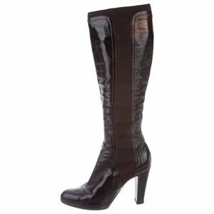 • Sergio Rossi • Patent Leather Knee-High Boots